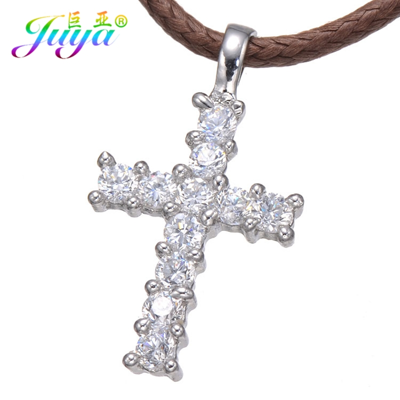 US $4 28 11% OFF Handmade Christian Religious Jewelry Gold/Silver/Rose Gold  Cross Charm Pendants For Women Men Fashion Crosses Jewelry Making-in