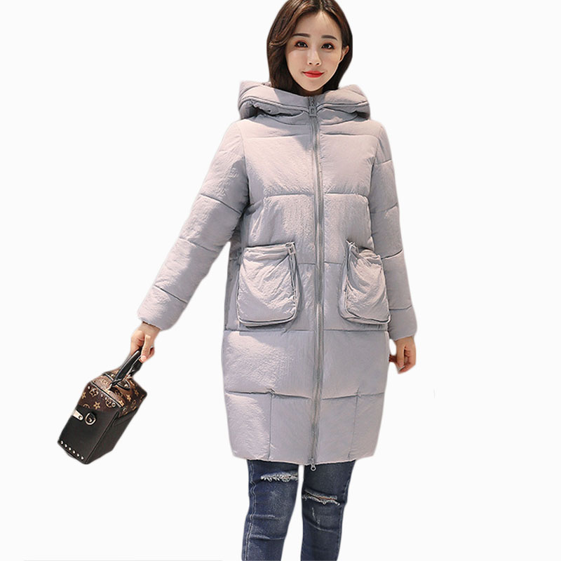 NEW HOT WOMEN WINTER JACKER 2017 PLUS SIZE MID-LENGTH HOODED SLIM THICK WARM FEMALE PARKAS COTTON WADDED COAT ZL664