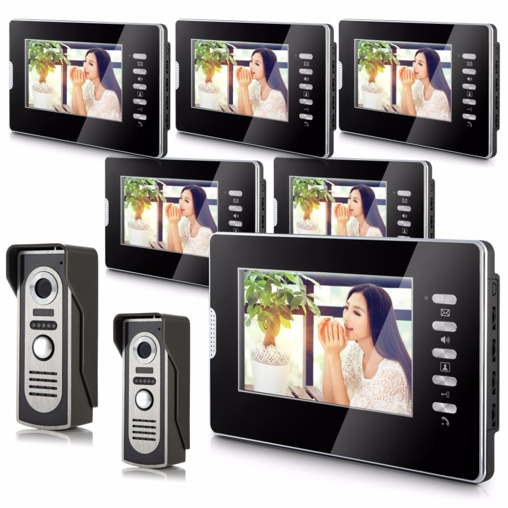 7 LCD  Monitor Alloy Wired Intercom Video Door Phone 2V6 LCD Monitor 7 LCD  Monitor Alloy Wired Intercom Video Door Phone 2V6 LCD Monitor