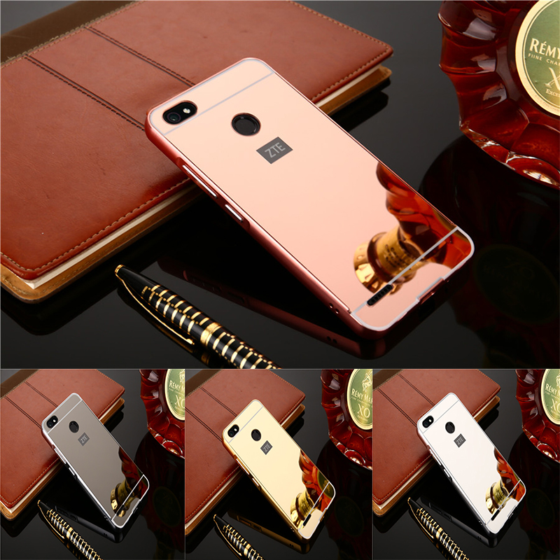 Plating Mirror Phone Cases For ZTE Blade A3 A0616 Alumimum Metal Frame shell Back Cover for ZTE A3 A 3