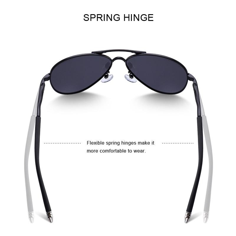 MERRYS Men Classic Pilot Sunglasses HD Polarized Aluminum Driving - Accesorios para la ropa - foto 4