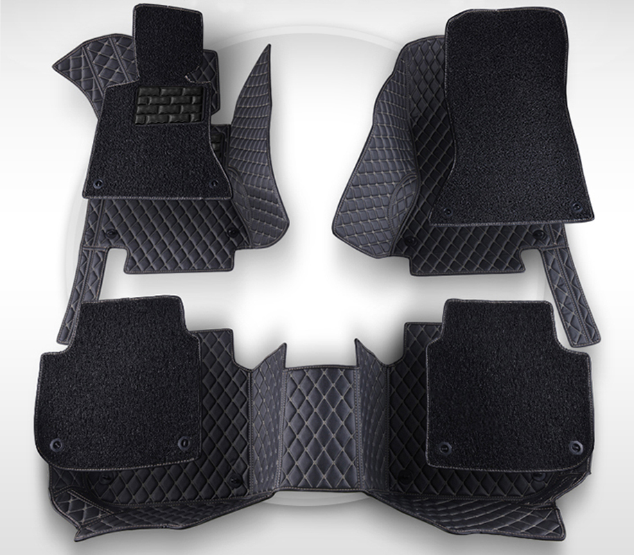 AA Double Layer!Custom Special Floor Mats for Land Rover Discovery 3/4 Sport Range Rover Sport Evoque Carpet Carmat
