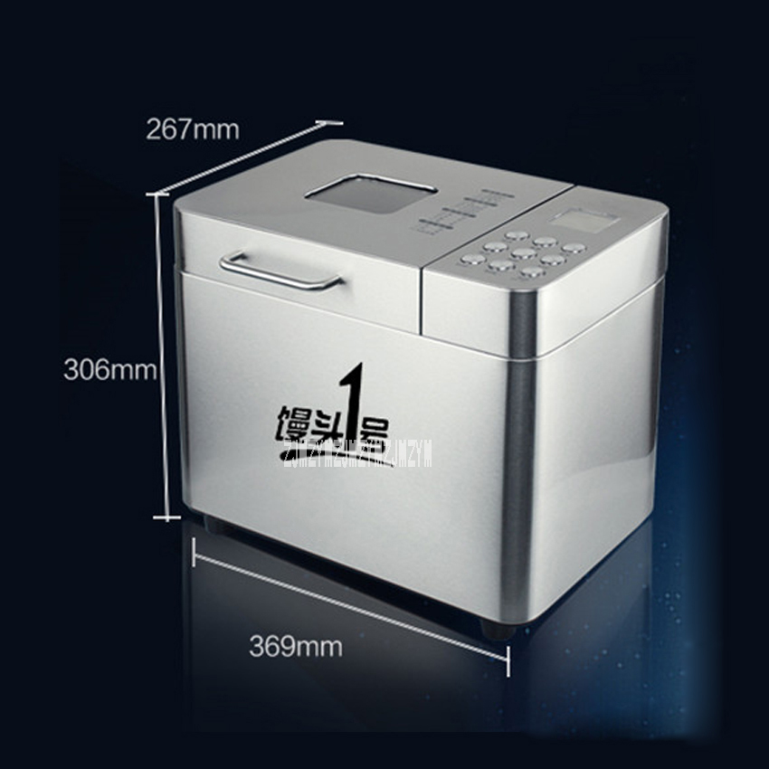 New 220V 550W Stainless Steel Automatic Home Cake bread Machine Booking Dough Kneading Baking RTBR-208 Bread Machine 500-1000g commercial stainless steel dough divider automatic cutting machine bread machine dough separator yf 36 220v 380v 750w 1pc