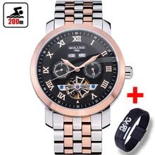 Водонепроницаемые мужские часы, брендовые Роскошные автоматические механические часы для мужчин, полностью стальные спортивные часы для бизнеса, 200 м