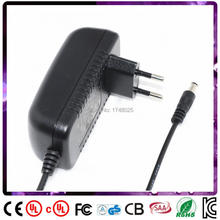 Free shipping 1pcs 90cm cable 33v 1a power adapter 33w dc adaptor EU input 100 240v ac 5.5×2.1mm DC cable Power Supply
