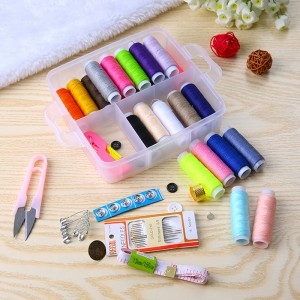 Multifunctional portable gold tail needle and Sewing Kit 12 pcs/set 16*15*5cm free shipping