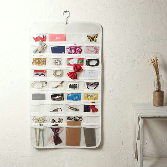 80 Jewelry Organizer Hanging Storage Pockets Jewelry Earring Rings