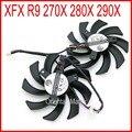 2 pçs/lote POWER LOGIC PLD09210S12HH DC12V 0.40A 86mm 40*40*40mm 4Pin Para XFX R9 280X 270X 290X Placa Gráfica Ventilador de Refrigeração