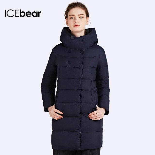 ICEbear 2016 Новый бренд одежды Зимний женский пуховик Лаконичный стиль пуховика Для миниатюрных девушек Подчеркивая Стройность Ног Куртка Зимний Женскийы Одежда для женщин 16G6128D