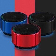 Mini Portable Wireless Speaker TF Card LED Light Bass Stereo Bluetooth 4.2 Speaker OUJ99 led bluetooth speaker led light speaker led