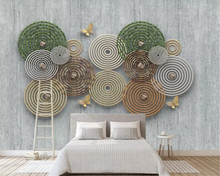 Beibehang Custom Wallpaper Large Painting 3d abstract circle Wall Mural papel de parede Home background decoration 3D Wallpaper цена и фото