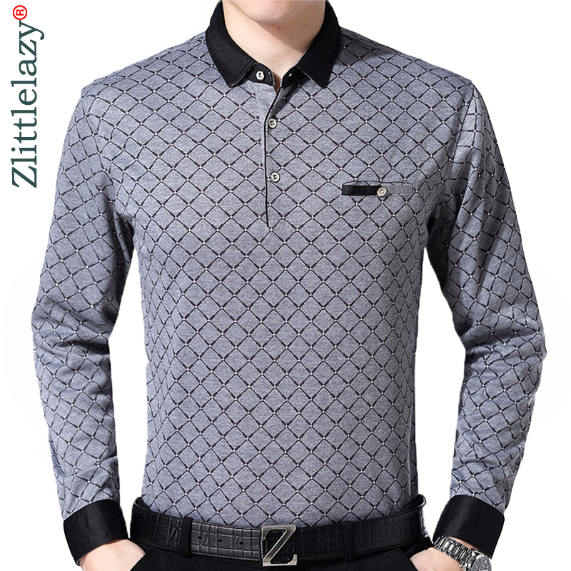 2019 brand long sleeve fitness   polo   shirt men camisa masculino casual argyle   polos   shirts mens poloshirt clothing jersey 9360