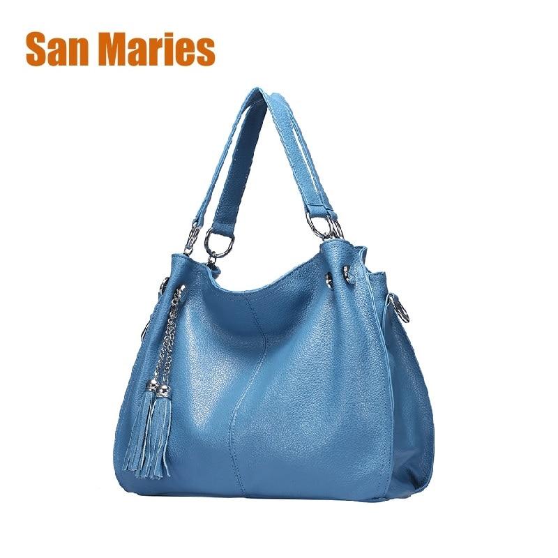 San Maries Luxury Handbags Women Bags Designer Zipper Women Fashion Shoulder Messenger Bags Ladies Real Leather Fashion Handbag