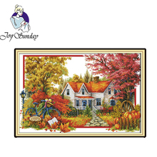 Joy Sunday,The autumn house,cross stitch embroidery set,printing cloth embroidery kit,Needlework counted cross-stitch patterns joy sunday the tune lingered cross stitch embroidery set printed embroidery set needlework cross stitch embroidery patterns