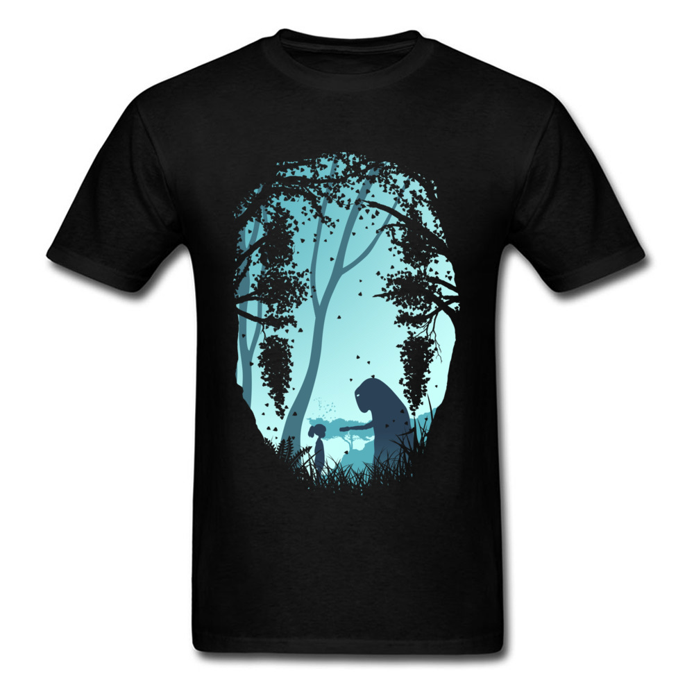 Lonely Spirit Tshirt Mens T-shirts Faceless Print Tees Spirited Away T Shirt Japan Style Anime Design Clothes Cotton Black Tops
