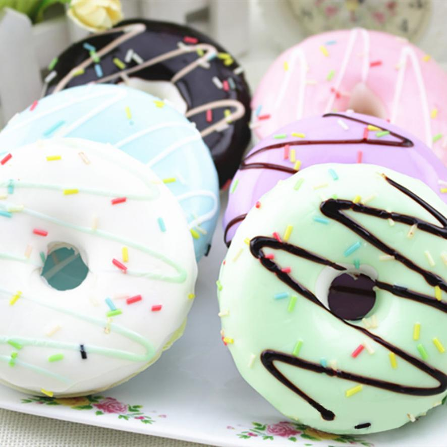 Squishy Skuishy Stress Reliever Soft Colourful Doughnut Scented Slow Rising Toys Gift Lovely  5.2