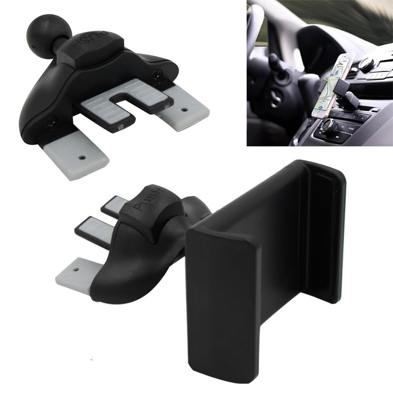 Mayitr Universal Car CD Dash Slot Phone Mount Holder Portable Black Holder Stand For Smart Phone New Hot