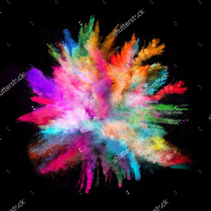 Color Wallpaper Colorful Powder On