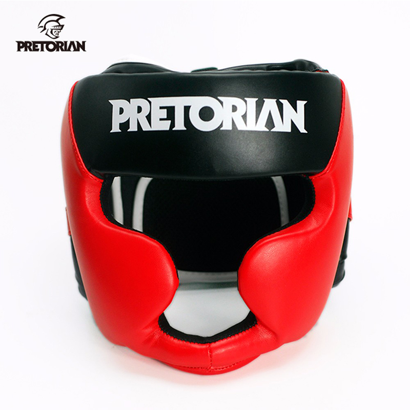 מותג PRETORIAN איגרוף ראש המשמר Muay תאילנדית KickBoxing Headgearing גברים נשים אימון Sparring TKD כושר גרנט MMA אגרוף קסדה