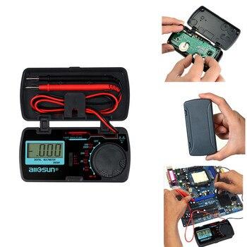 EM3081 LCD Display Digital Multimeter 3 1/2 1999 t AC/DC Ammeter Voltmeter Ohm Portable Meter Voltage Meter цена 2017