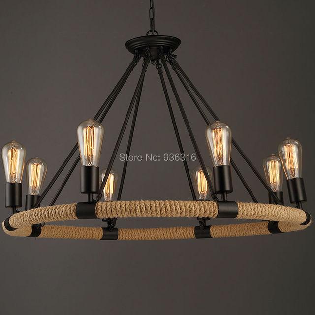 Iets Nieuws Vintage Touw Hanglamp Lamp Loft Creatieve Persoonlijkheid &ND43