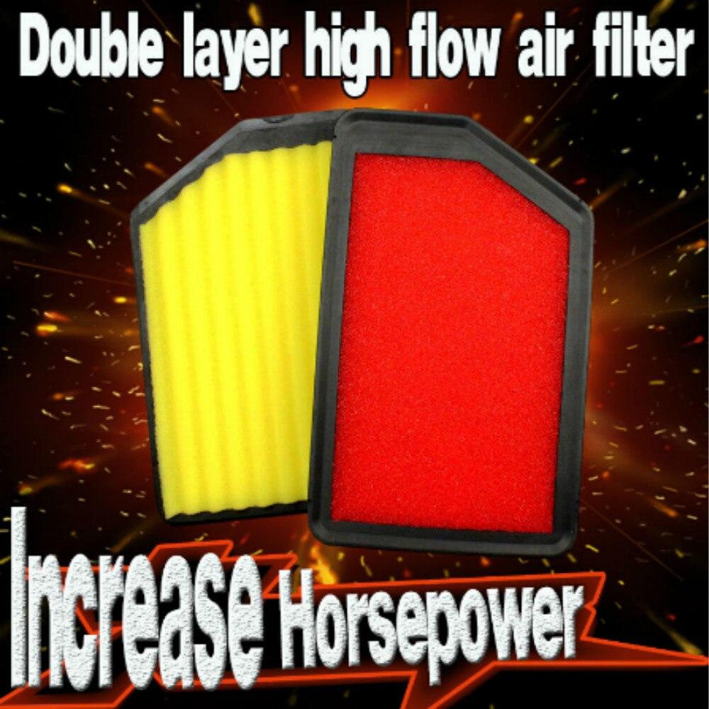 1Pcs Double layer Car Air Filter High Flow Air Filter Auto Super Hybrid Air Filters for HYUNDAI I40 1.6 1.7 2.0 2011-20141Pcs Double layer Car Air Filter High Flow Air Filter Auto Super Hybrid Air Filters for HYUNDAI I40 1.6 1.7 2.0 2011-2014
