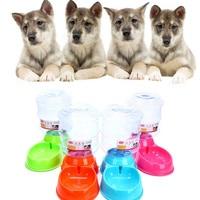 11.11 Dropshipping wholesales2017 Nueva 3.5L Pet Dog Cat Dispensador Automático De Agua Botella Dispositivo de Plato de Compra B7717