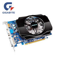 GIGABYTE GT730 2GB karta graficzna GV-N730-2GI D3 128Bit GDDR3 karty graficzne dla nvidia geforce GT 730 D3 HDMI Dvi używane karty VGA