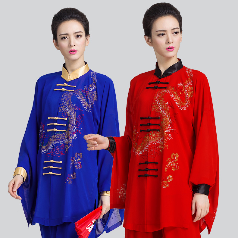 Women Summer Tai Chi Clothing  Wushu Kung Fu,martial Art Suit  Chinese Stly  Three Pieces
