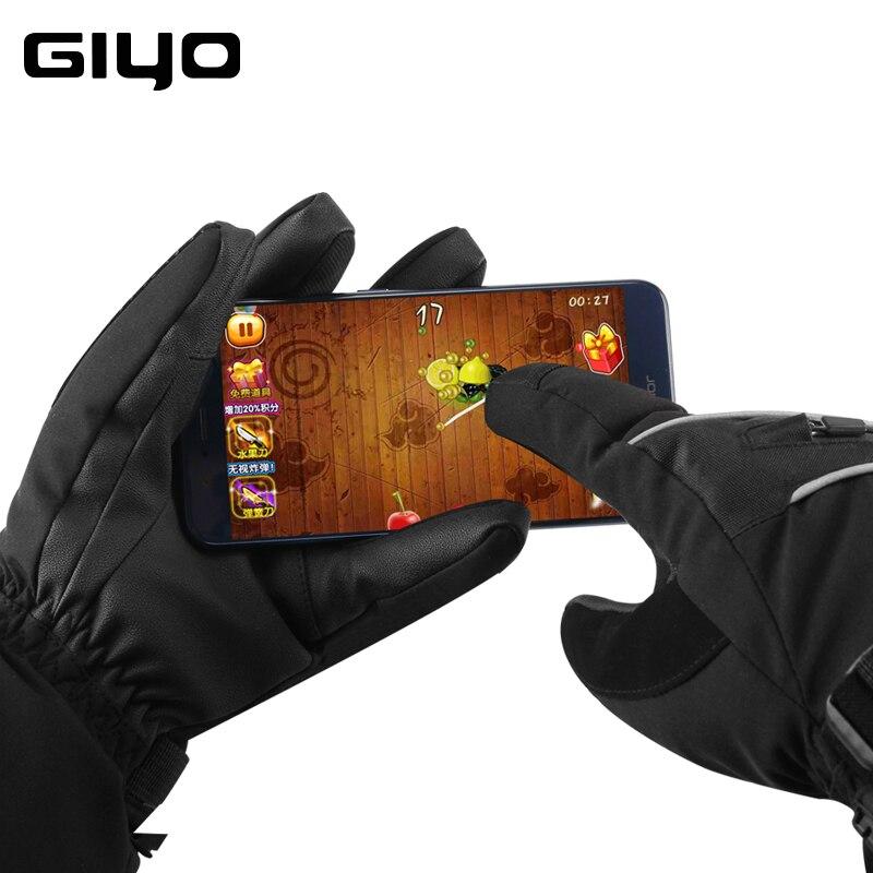 GIYO Waterproof Bike Gloves Full finger Men Women Warm Snow Gloves Snowmobile Snowboard Glove Mittens Winter Sport Thermal Glove|Cycling Gloves|   - title=