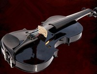 Black violin 1/8 1/2 3/4 4/4 basswood violin handcraft violino Musical Instruments with violin case +violin bow +rosin