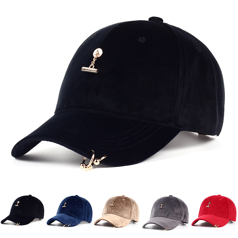 VORON 2017 Spring Summer Fashion Women Velvet Pendant Satin   Baseball     Cap   Boys Ring   Baseball   Hats Casquette For Girl Gorras