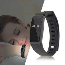 V07 модные Дизайн 0.87 дюймов OLED Дисплей мониторинг сна крови Давление монитор Bluetooth 4.0 Smart Браслет черный