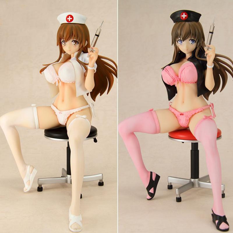 1pcs 22cm pvc Japanese sexy anime figure Anime Sex Girls Lechery Daydream Nurse Miyuu 1/6 Sexy PVC action figure ...