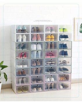 3702c2f00 6 pçs/set Sapato Organizador de Gaveta Caixa de Armazenamento De Sapato de  Plástico Transparente Retângulo PP Engrossado Sapatos Organizador Caixas de  ...