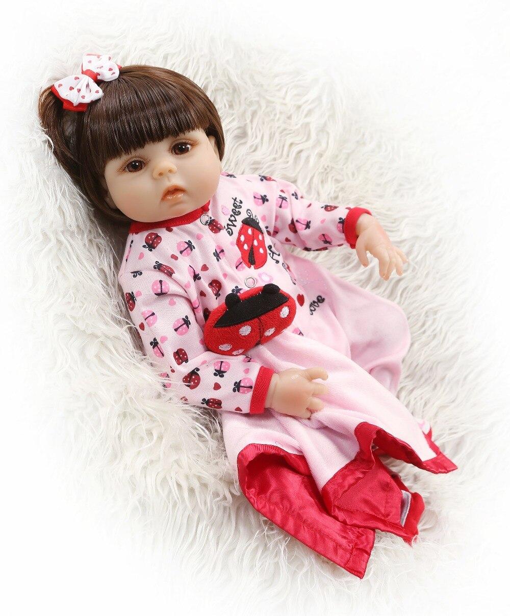 NPKCOLLECTION Zachte Siliconen 48 CM Bebes Reborn Poppen Alive Baby Meisje Poppen Speelgoed Voor Kind Playhouse Meisje Verjaardag Cadeaus Brinquedo-in Poppen van Speelgoed & Hobbies op  Groep 3