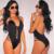 Olrain Verão Mulheres Sexy Halter Collant Macacão Macacão Bodysuit Playsuit Plung V Rendas pescoço Para Cima