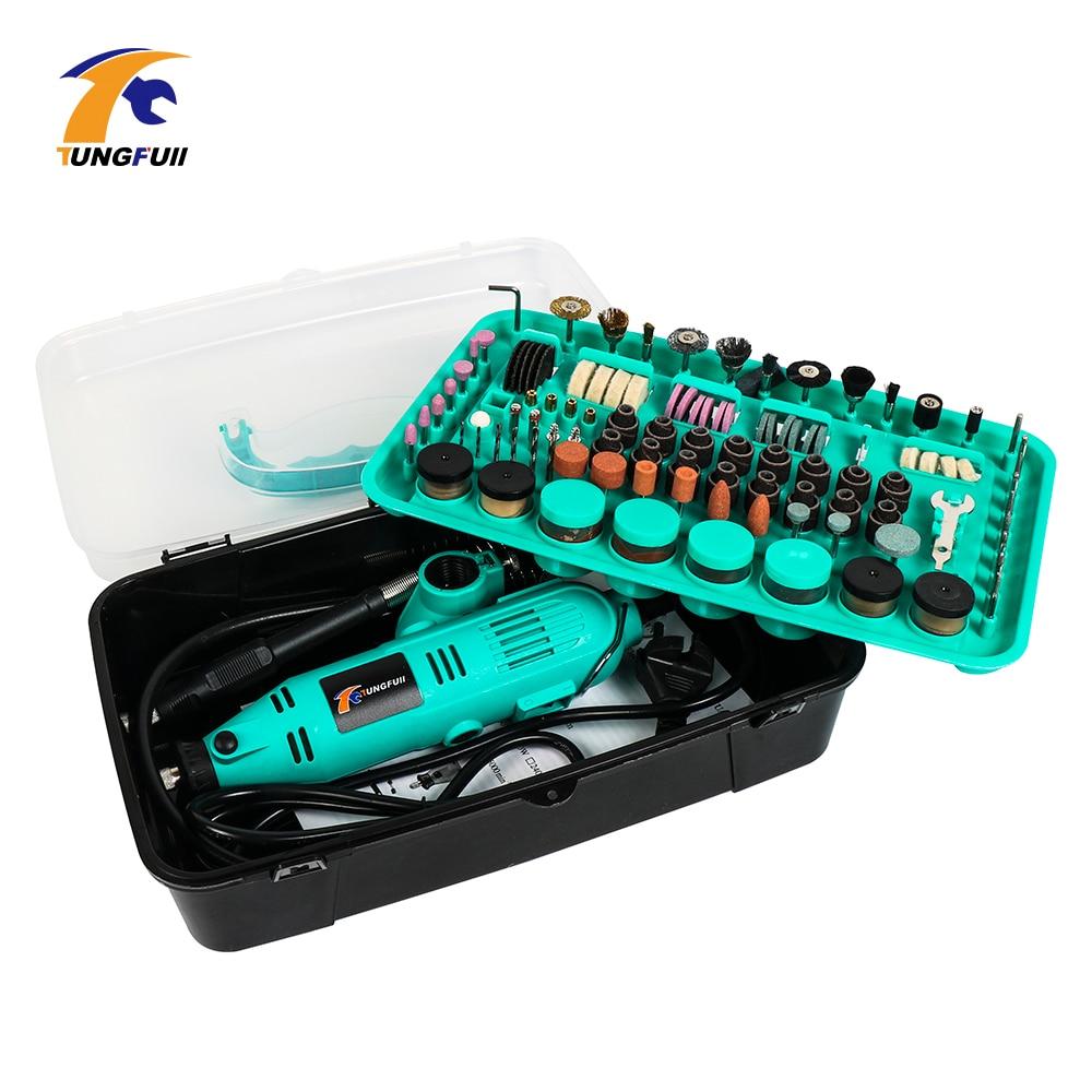 Tungfull Mini Drill Dremel Style 30000rpm Drilling Machine For Dremel Drills Rotary Tools Power Tool Accessories Grinder