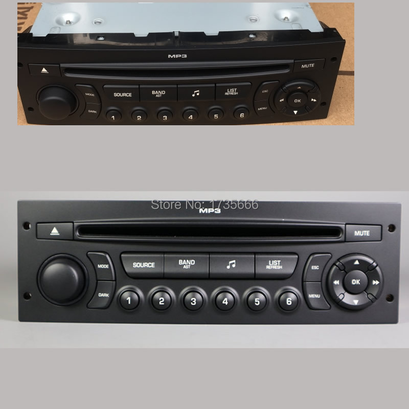 Nouveau RD45 autoradio lecteur CD prend en charge Bluetooth AUX USB MP3 pour citroën C3 C4 C5 pour Peugeot 207 206 307 308 807