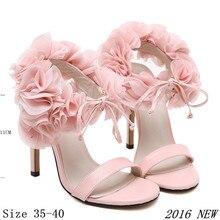 HOT Women Party Sandals 2016 Summer Elegant High Heels Sandalias Mujer Women's Dress Shoes Sandal
