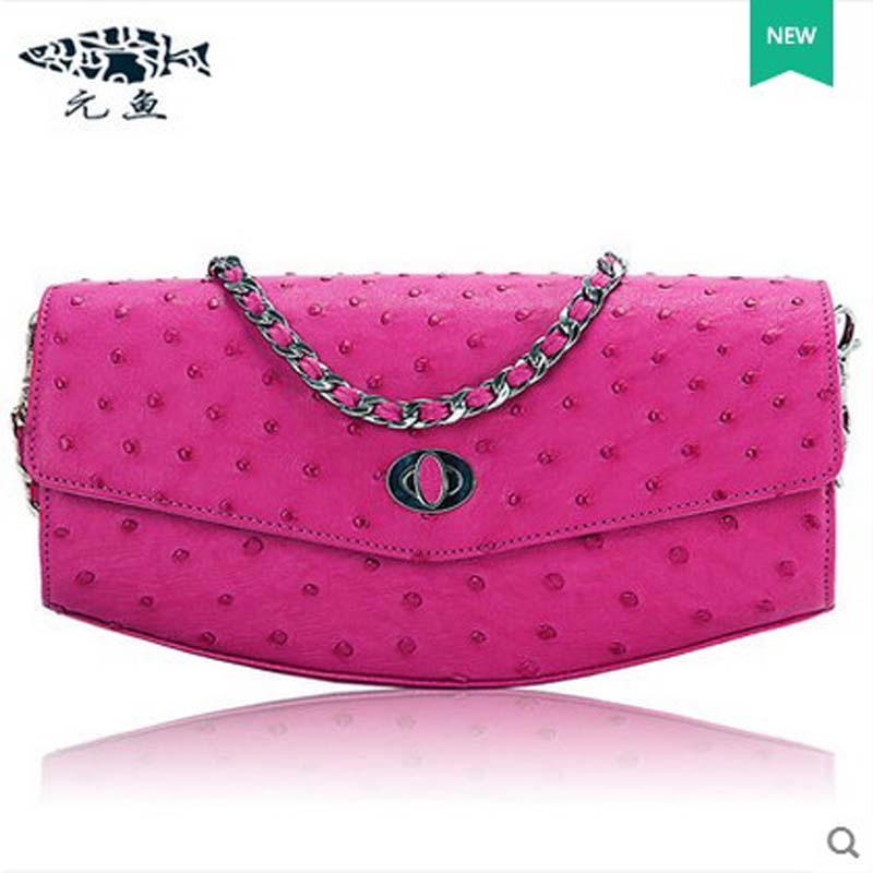 yuanyu 2018 hot new free shipping ostrich leather single shoulder bag l aslant bag  fashion women chain bag  women envelope bag yuanyu 2018 new hot free shipping crocodile women handbag wrist bag big vintga high end single shoulder bags luxury women bag