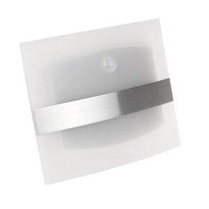 Image 4 - LED ضوء الليل الألومنيوم حالة إضاءة المنزل مشرق LED مصابيح بمستشعرات حركة المنشط اللاسلكية الجدار مصباح الشمعدان البطارية بالطاقة