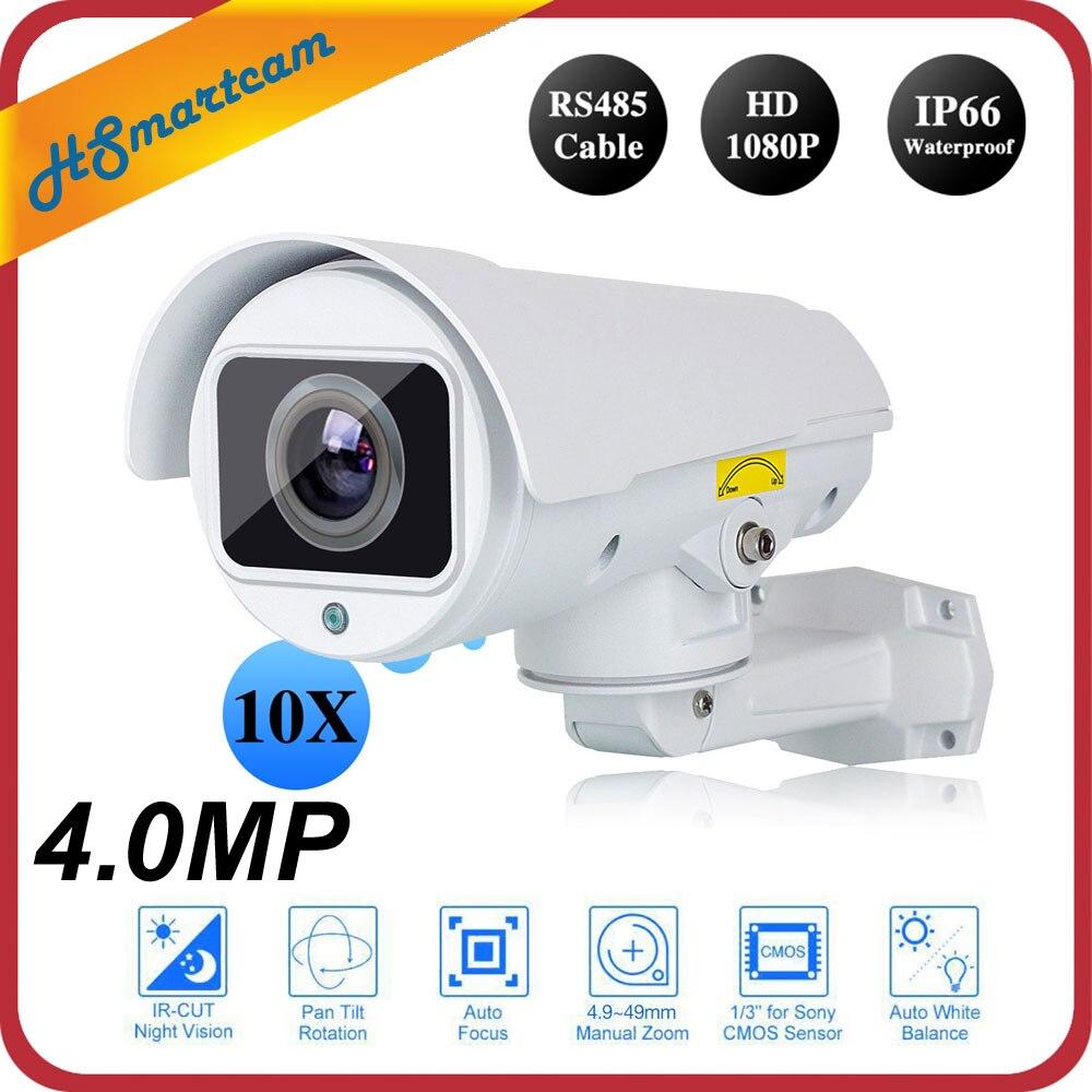 Al aire libre HD 1080 p 10X zoom óptico auto focus varifocal red IP cámara Sony 323 4MP Full HD CCTV cúpula mini PTZ P2P CAM ONVIF