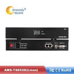 Arkhangelsk Linsn TS852D sender box support linsn sending card Ts802dfor p10 led module full color outdoor screen