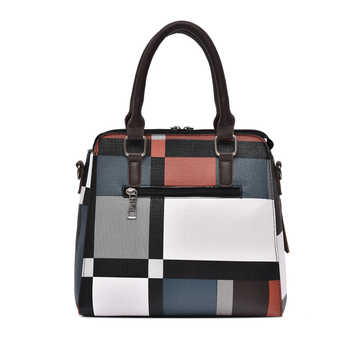 Luxury Handbags Women Bags Set Pu Leather Designer Striped Messenger Sack Bags Daily Use Tote with Purse Casual Shoulder Bag Sac