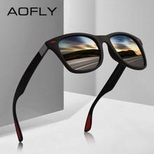 AOFLY Clássico DESIGN DA MARCA Óculos Polarizados Óculos de Sol Das  Mulheres Dos Homens de Condução óculos de Sol Quadrado Quadr. f3be1a8c25