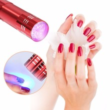 Get more info on the 1pc Mini LED UV Gel Curing Lamp Without Battery Portability Nail Dryer LED Flashlight Currency Nail Art Makeup Tool