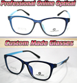 A grande caixa azul gem série Óptico Custom made lentes ópticas óculos de leitura + 1 + 1.5 + 2 + 2.5 + 3 + 3.5 + 4 + 4.5 + 5 + 5.5 + 6