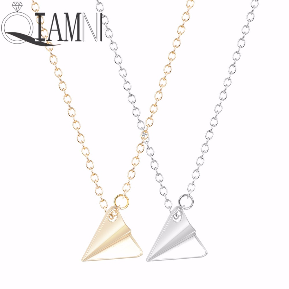 Style 123020 Diamontrigue Jewelry: QIAMNI New Style Origami Plane Necklace Unique Pendant