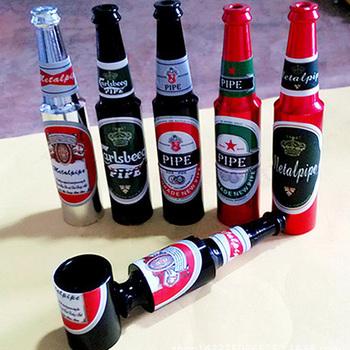 Mini piwo dym rur metalowych przenośne kreatywne fajka fajki na tytoń i zioła prezenty młynek do chwastów dym 6 kolorów rury K1160 F tanie i dobre opinie Bezpłatne typu